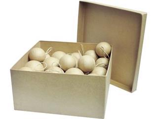 Graine Créative kartonnen kerstbal, doos met 40 geassorteerde stuks