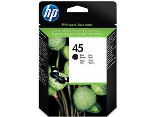 HP inktcartridge 45, 930 pagina's, OEM 51645AE#301, zwart, met beveiligingssysteem