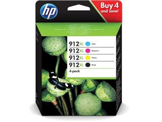 HP inktcartridge 912XL, 2 400 pagina's, OEM 3YP34AE, 4 kleuren