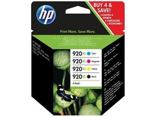 HP inktcartridge 920XL, 1 200 pagina's, OEM C2N92AE, 4 kleuren