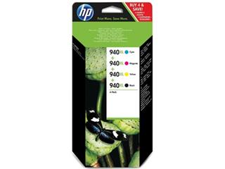 HP inktcartridge 940XL, 2 300 + 3 x 1 500 pagina's, OEM C2N93AE, 4 kleuren