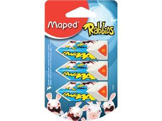 Maped gum Rabbids, blister met 3 stuks