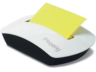 Pergamy notes, ft 76 x 76 mm neon geel, 100 vel + dispenser