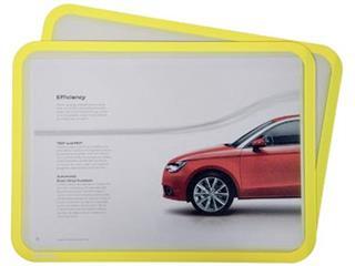 Tarifold tas met magnetische strips, ft A4, geel, pak van 2 stuks