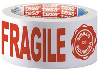 """Tesa verpakkingsplakband """"FRAGILE"""", ft 50 mm x 66 m"""