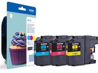 Brother inktcartridge 3 kleuren, 600 pagina's, LC-123RBWBP