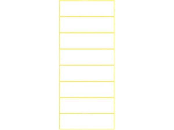Avery Witte etiketten ft 50 x 14 mm (b x h), 64 stuks