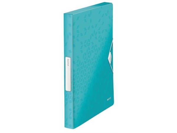 Leitz WOW elastobox ft A4, ijsblauw