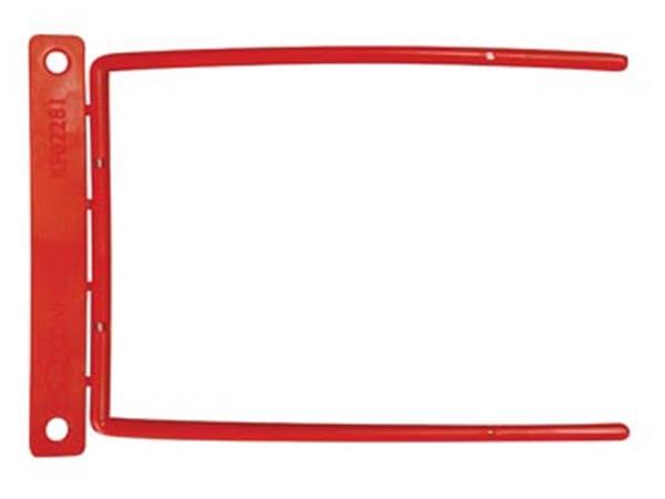 STAR archiefbinder D-clip. rood