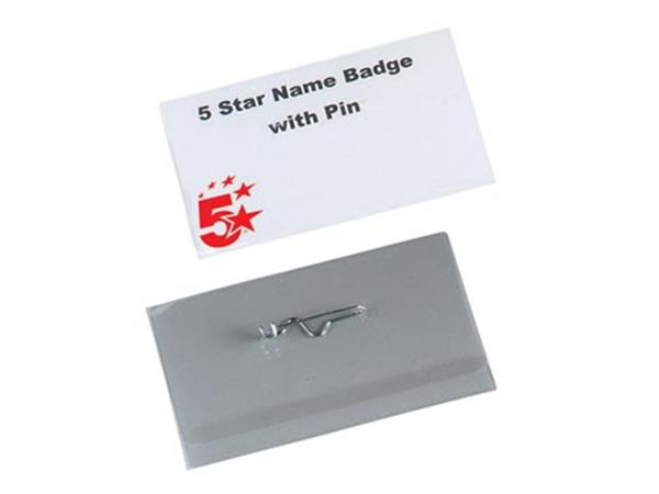 STAR badge met speld ft 40 x 75 mm. doos van 100 s