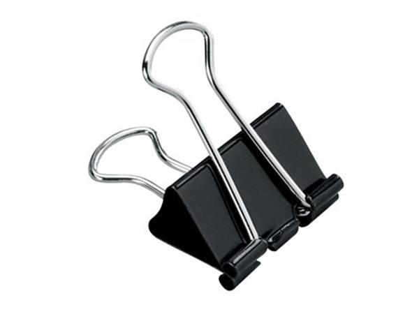 STAR foldbackclip 25 mm. zwart - doos van 12 stuks