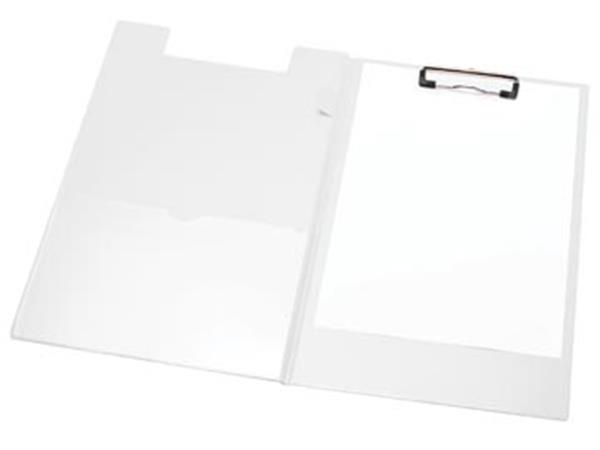 LPC klemplaat dubbel voor ft A4. wit