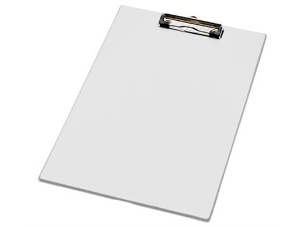 LPC klemplaat voor ft folio/A4. wit