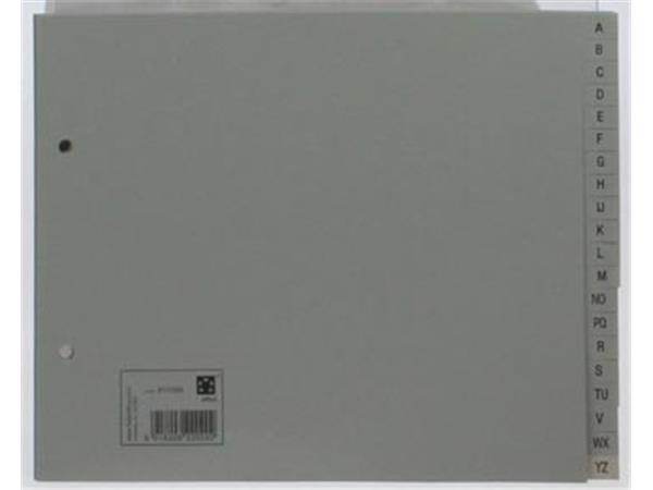 STAR tabbladen A-Z, ft A5, 2-gaatsperforatie, grijs