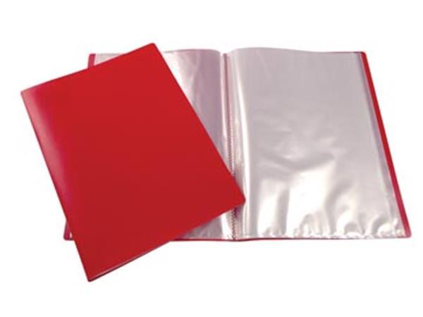 ef3eff5a3fe 5 Star showalbum, ft A4, 10 tassen, rood