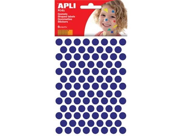 Apli Kids stickers. cirkel diameter 10.5 mm. blist