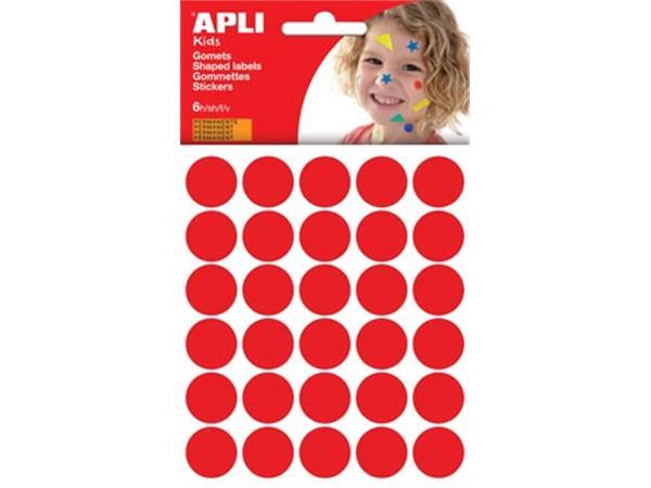 Apli Kids stickers. cirkel diameter 20 mm. blister
