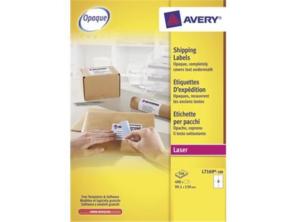 Avery L7169. Verzendetiketten. Laser. Ultragrip. w