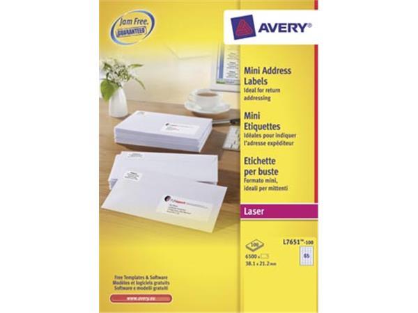 Avery L7651. Verzendetiketten. Laser. Ultragrip. w