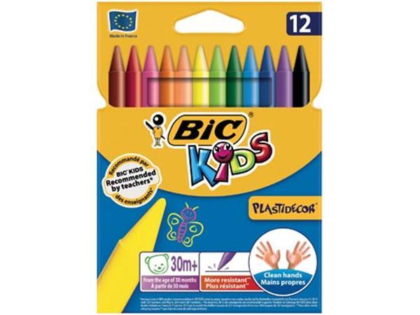 Bic Kids Plastidecor waskrijt. etui met 12 stuks