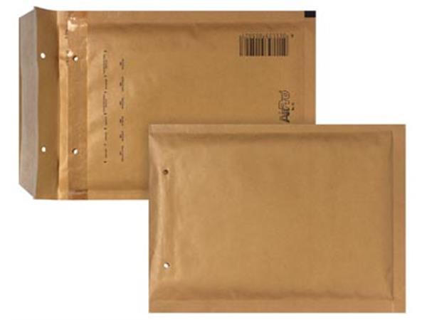 Bong luchtkussenenveloppen ft 150 x 215 mm met stripsluiting, bruin, doos van 100 stuks