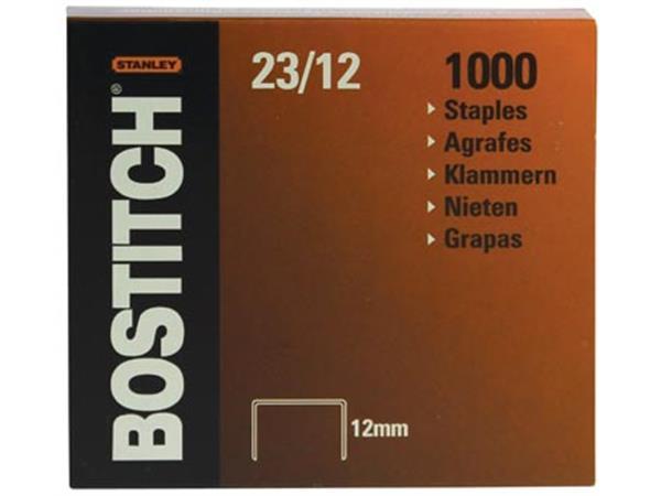 Bostitch nietjes 23-12-1M. 12 mm. verzinkt. voor B