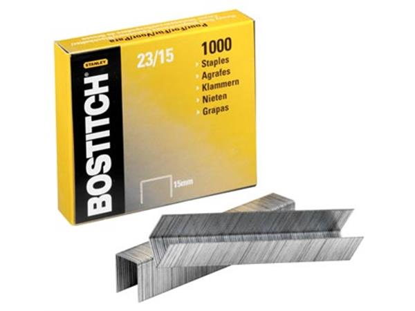 Bostitch nietjes 23-15-1M. 15 mm. verzinkt. voor B