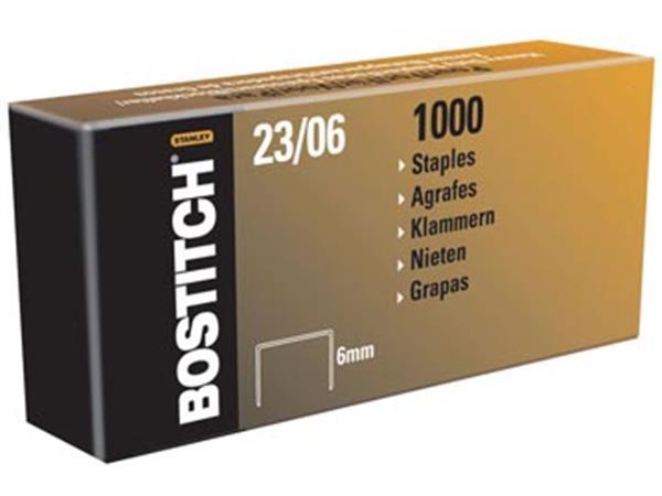 Bostitch nietjes 23-6-1M. 6 mm. verzinkt. voor PHD