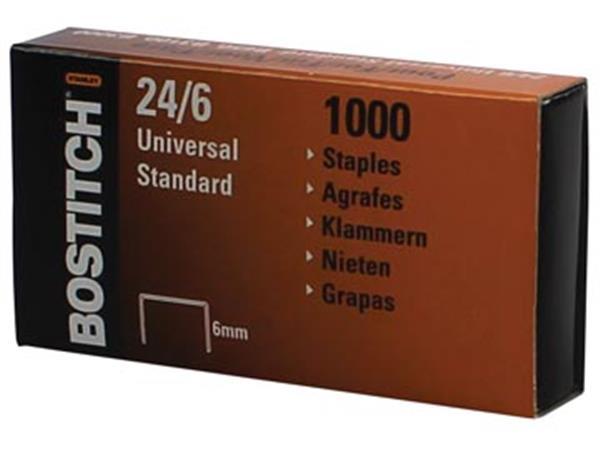 Bostitch nietjes 24-6-1MGAL. 6 mm. verzinkt. doos