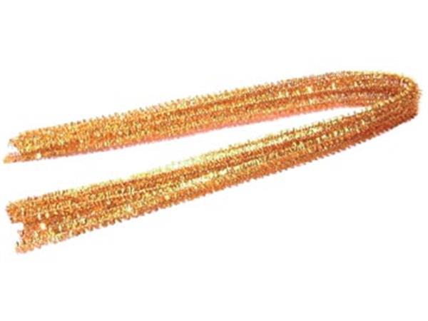 Bouhon chenilledraad goud, pak van 10 stuks