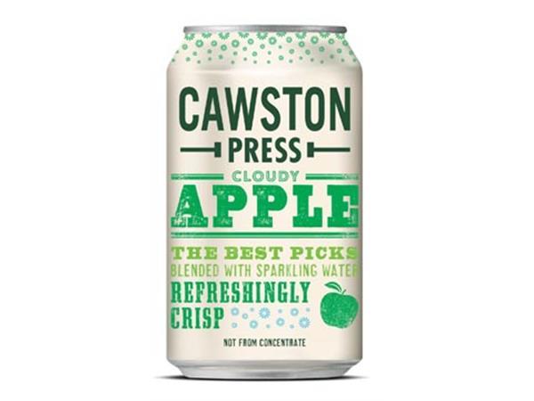Cawston Press frisdrank Cloudy Apple blikje van 33 cl, pak van 24