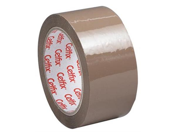 Celfix verpakkingsplakband ft 50 mm x 66 m. PP. br
