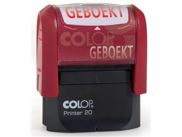 Colop formulestempel Printer tekst: GEBOEKT