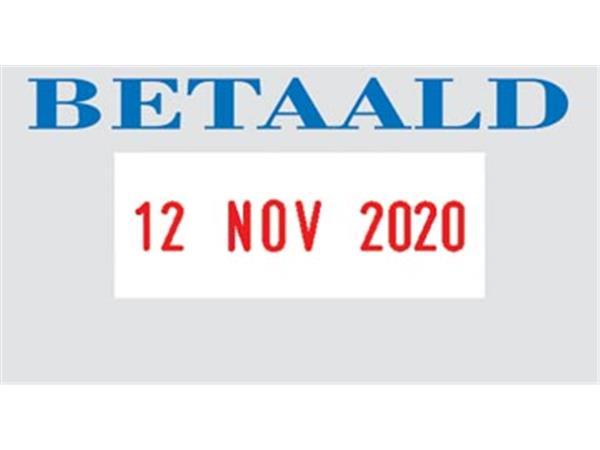 Colop tekststempel met datum Printer tekst: BETAAL