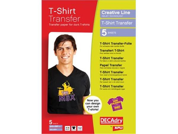 Decadry T-shirt Transfer Paper voor donker of zwart textiel