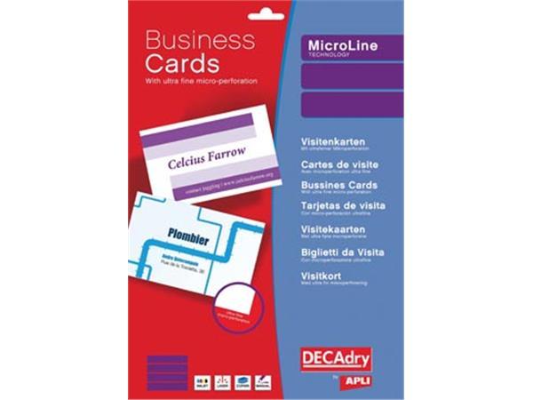 Decadry visitekaarten MicroLine ft 85 x 54 mm. 185