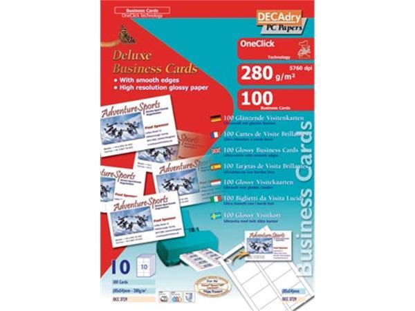 Decadry visitekaarten OneClick glanzend