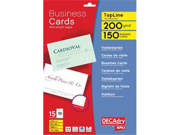 Decadry visitekaarten TopLine 150 kaartjes (10 kaa