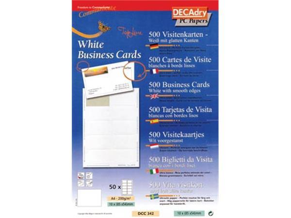 Decadry visitekaarten TopLine 500 kaartjes (10 kaa