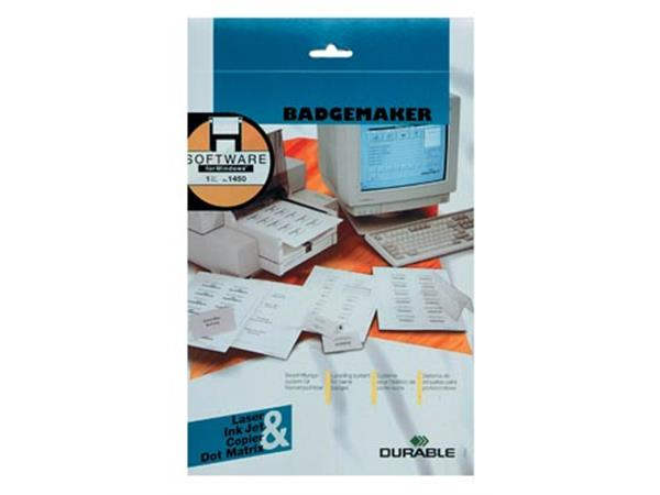 Durable Badgemaker insteekkaartjes ft 54 x 90 mm (