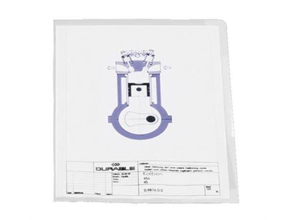 Durable L-map A4. transparant. 10 stuks