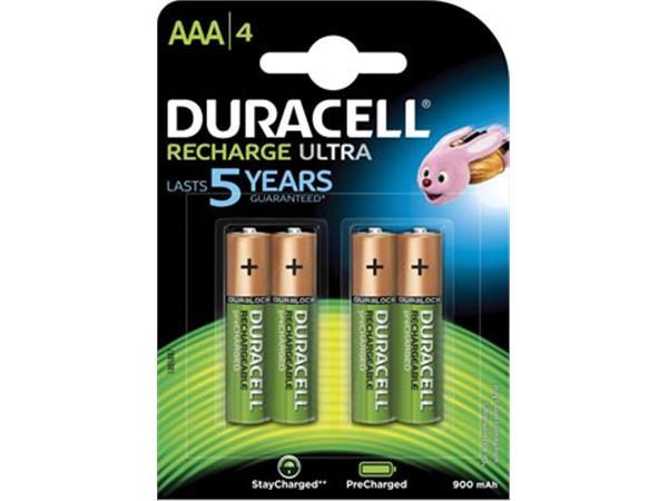 Duracell oplaadbare batterijen Recharge Ultra AAA.