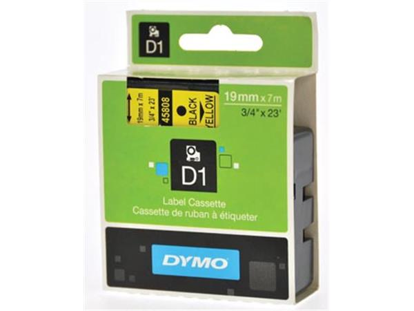 Dymo D1 tape 6 mm, zwart op geel