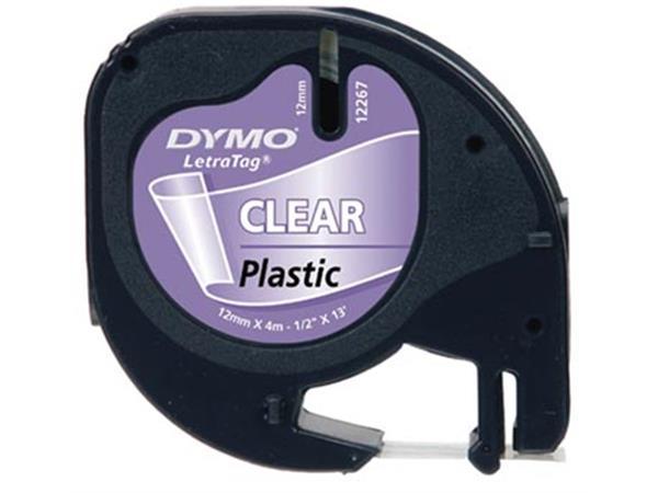 Dymo LetraTAG plastic tape 12 mm. transparant