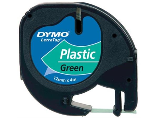 Dymo LetraTAG tape 12 mm. plastic groen