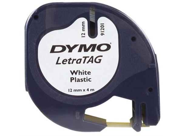 Dymo LetraTAG tape 12 mm. plastic wit