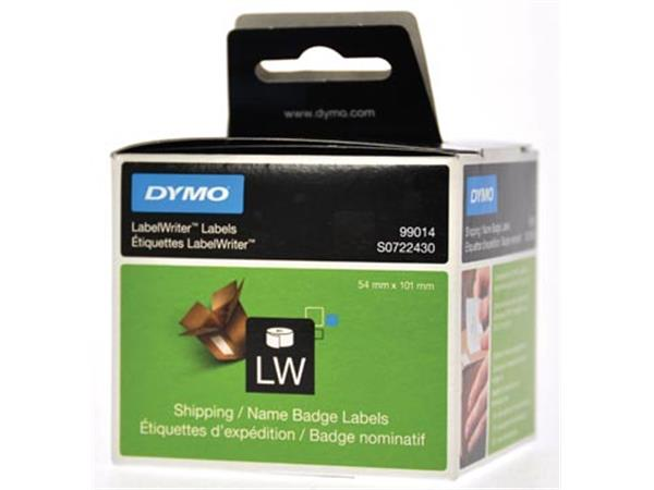 Dymo etiketten LabelWriter ft 101 x 54 mm. wit. 22