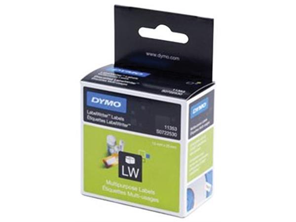Dymo etiketten LabelWriter ft 13 x 25 mm. verwijde