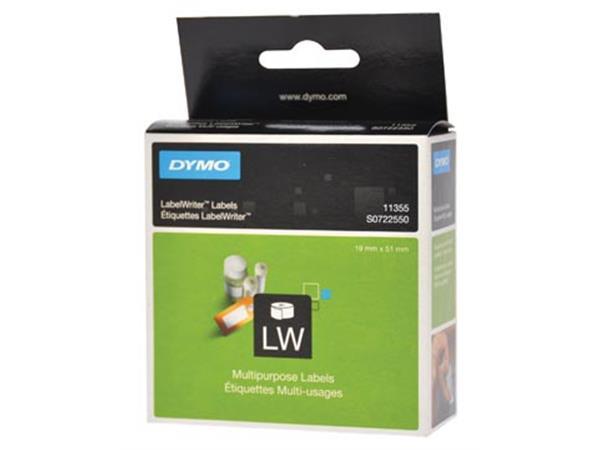 Dymo etiketten LabelWriter ft 19 x 51 mm. verwijde