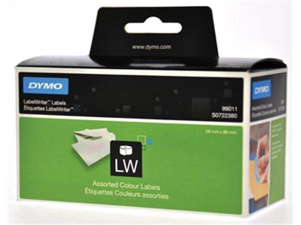 Dymo etiketten LabelWriter ft 89 x 28 mm. geassort